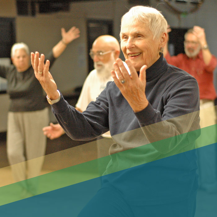Senior People Doing Tai Chi